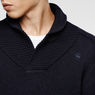 G-Star RAW® Gammit Shawl Collar Knit Dark blue flat front