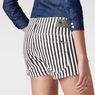 G-Star RAW® Arc Tuka Striped Shorts White front