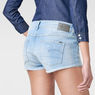 G-Star RAW® 3301 Ripped Shorts Light blue front flat