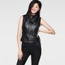 G-Star RAW® 5620 Custom Zip Leather Jacket Black model front