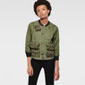 G-Star RAW® Upton Cropped Lightweight Jacket Green model front