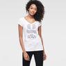 G-Star RAW® Loreen V-Neck T-Shirt White