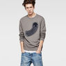 G-Star RAW® RAW For The Oceans - Round Neck Sweat Grey model front
