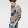 G-Star RAW® RAW For The Oceans - Round Neck Sweat Grey model side