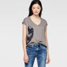 G-Star RAW® Raw For The Oceans - V-Neck Tee Grey