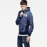 G-Star RAW® Netrol Hooded Sweater Medium blue model side