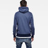 G-Star RAW® Netrol Hooded Sweater Medium blue model back