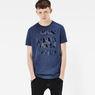 G-Star RAW® Frikran Short Sleeve T-shirt Dark blue model front