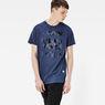 G-Star RAW® Frikran Short Sleeve T-shirt Dark blue model side