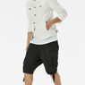 G-Star RAW® Rovic Zip 1/2 Shorts Grey model front
