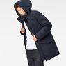 G-Star RAW® Expedic Hooded Cotton Parka Dark blue model side