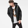 G-Star RAW® Whistler Hooded Camo Jacket Green model front