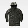 G-Star RAW® Whistler Hooded Parka Green flat front