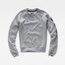 G-Star RAW® Xula Badge Straight Sweater Grey flat front