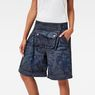 G-Star RAW® 5621 Pouch Cirex High Waist Shorts Dark blue front flat