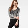 G-Star RAW® Hika Slim Granddad T-Shirt Grey model front
