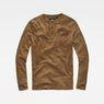 G-Star RAW® Classic Granddad Pocket Slim T-Shirt Brown flat front