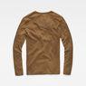 G-Star RAW® Classic Granddad Pocket Slim T-Shirt Brown flat back