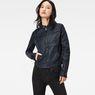 G-Star RAW® Mower Denim Slim Overshirt Dark blue model front