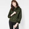 G-Star RAW® Deline Field Cropped Loose Overshirt Green model front