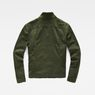 G-Star RAW® Deline Field Cropped Loose Overshirt Green flat back