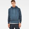 G-Star RAW® Stalt Hooded Sweater Dark blue model front