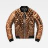 G-Star RAW® Rackam Hybrid Quilted Cropped Bomber Beige flat front