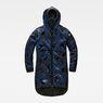G-Star RAW® Strett hooded padded parka + gymbag Dark blue flat front