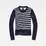 G-Star RAW® Jolta Hybrid Knit Bleu foncé model front