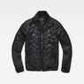 G-Star RAW® Meefic Sundu Quilted Overshirt Black flat front