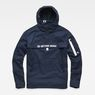 G-Star RAW® Rackam Deconstructed Hooded Anorak Jacket Dark blue flat front
