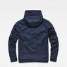 G-Star RAW® Rackam Deconstructed Hooded Anorak Jacket Dark blue flat back