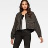 G-Star RAW® Rackam Oversized Cropped Bomber Grey model front