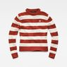 G-Star RAW® Doolin Stripe Knit Rot flat front