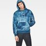 G-Star RAW® Cyrer Water Hooded Sweat Medium blue model front