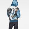 G-Star RAW® Cyrer Water Hooded Sweat Medium blue model back