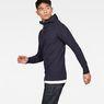 G-Star RAW® Omohundro Hooded Zip Knit Dark blue model side