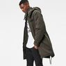 G-Star RAW® Submarine Hooded Deconstructed Parka Green model side