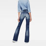 G-Star RAW® Lynn Zip High Waist Flare Jeans Medium blue