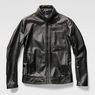 G-Star RAW® Re 3D Leather Biker Jacket Black model side