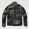 G-Star RAW® Re 3D Leather Biker Jacket Black model back