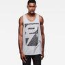 G-Star RAW® Jeroe Art Tank Top Grey model front
