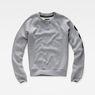 G-Star RAW® Xula Badge Straight Sweater Grey flat front