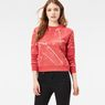 G-Star RAW® Luuto Splatter Cropped Sweater Red model front