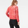 G-Star RAW® Luuto Splatter Cropped Sweater Red model back
