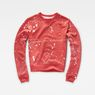 G-Star RAW® Luuto Splatter Cropped Sweater Red flat front