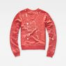 G-Star RAW® Luuto Splatter Cropped Sweater Red flat back