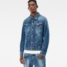 G-Star RAW® 3301 Deconstructed 3D Slim Jacket Medium blue model front