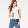 G-Star RAW® 3301 Moto Cropped Denim Jacket White model front
