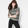 G-Star RAW® Daefera Cropped Sweater Grey model front